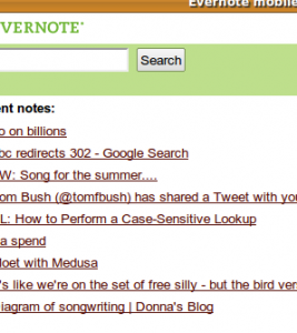 evernote mobile screenshot